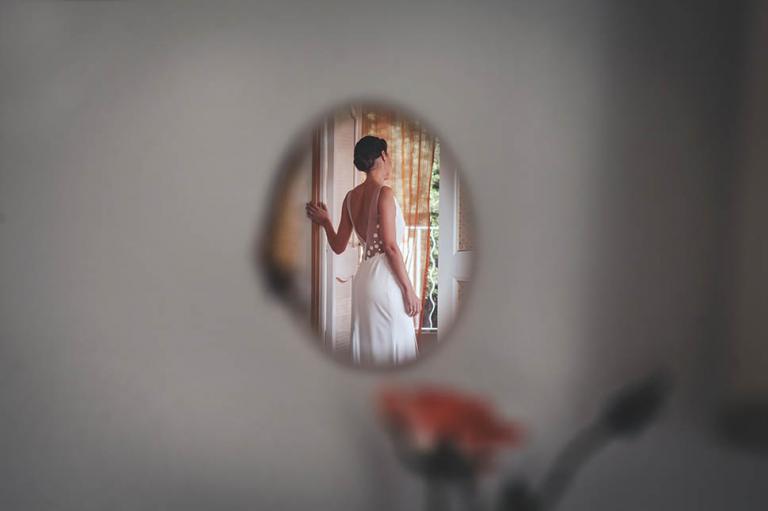 Dos nu de la mariée robe Rime Arodaky