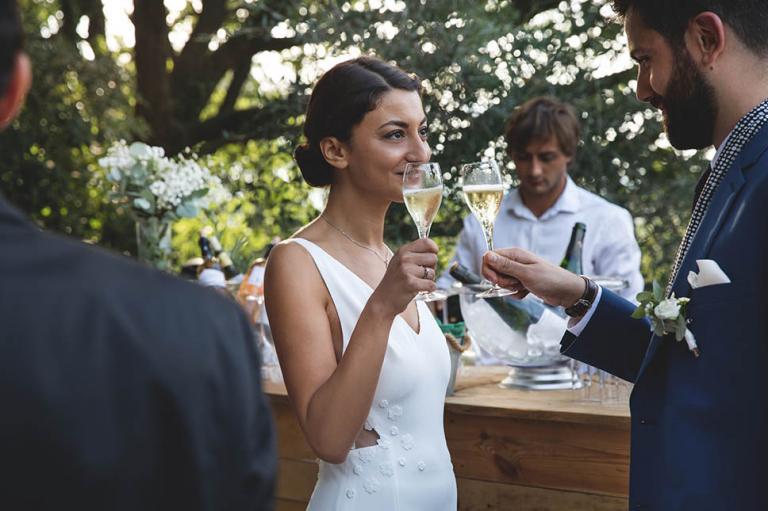 Coupe de champagne au vin d'honneur