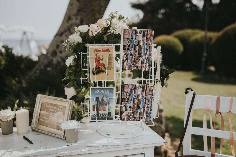 Cartes postales italienne pour la rédaction des voeux des invités