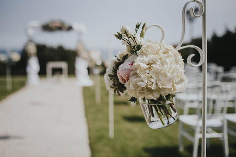 Bouquet décoration de l'allée