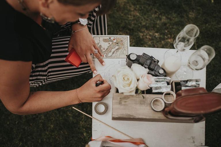 Rédaction des voeux de mariage sur carte postale