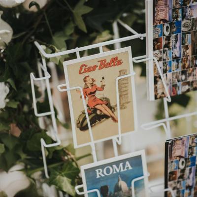 Livre d'or carte postale Italie