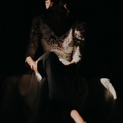 Laurène and the wolf Mas d'Arvieux