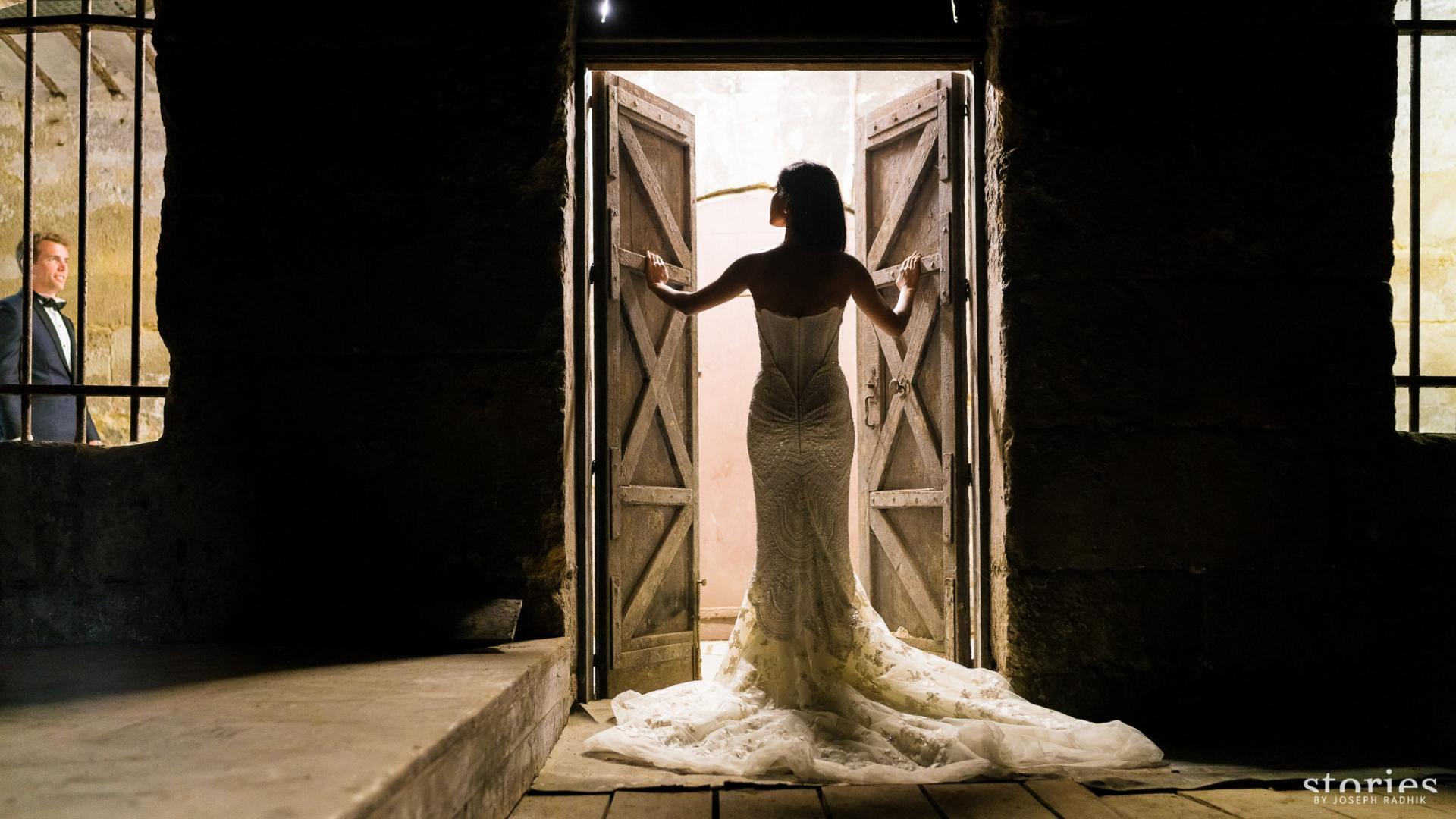 Photos de mariage dans les cachots
