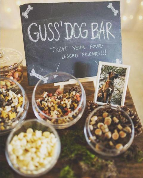 Le Dog Bar pour son mariage