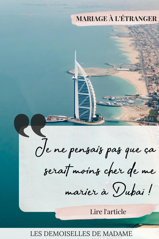 Mariage de rêve à Dubaï